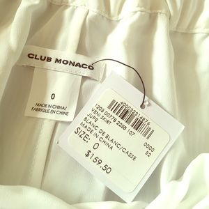 Club Monaco white skirt